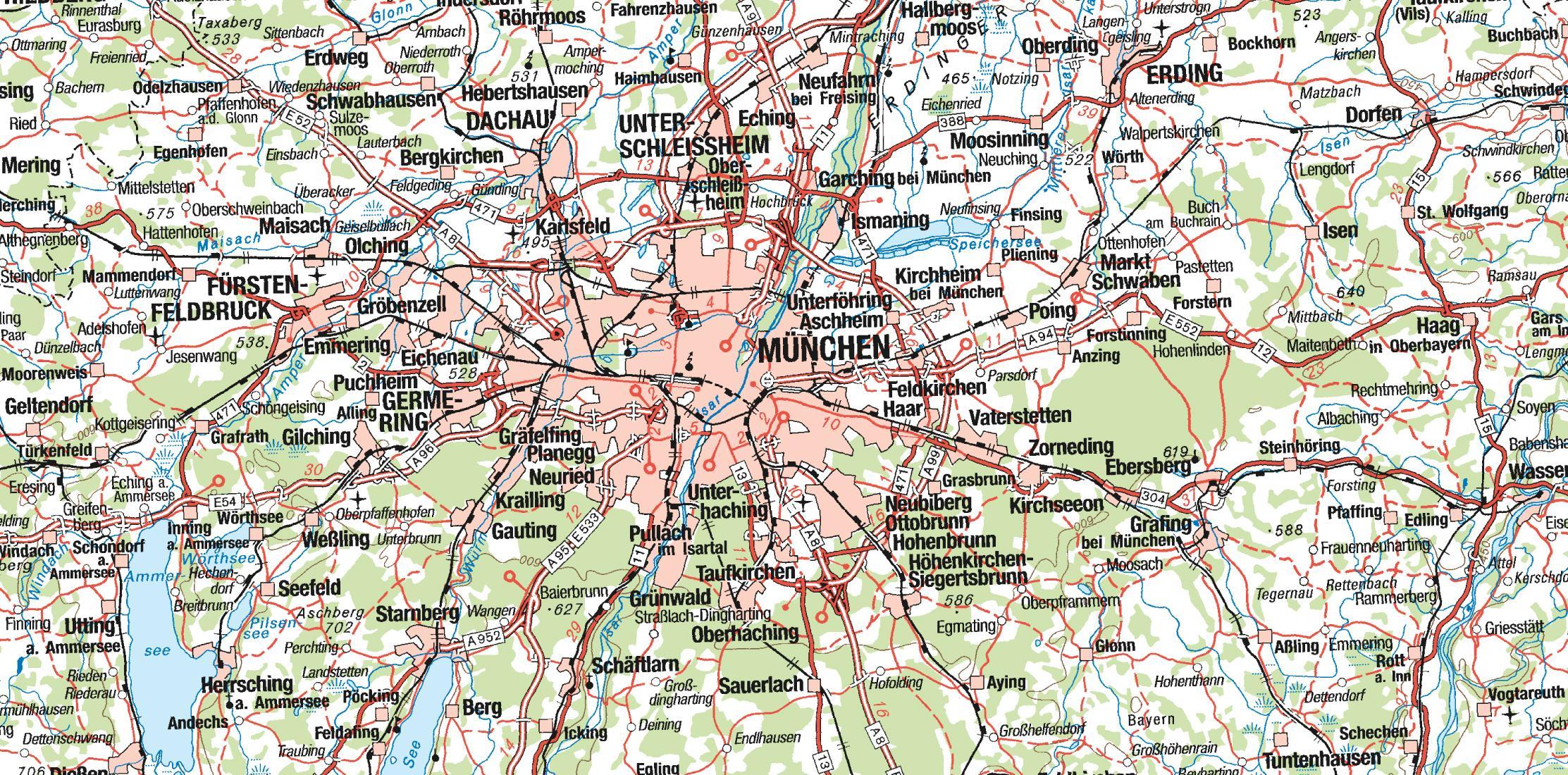 Mapa niemcy bawaria