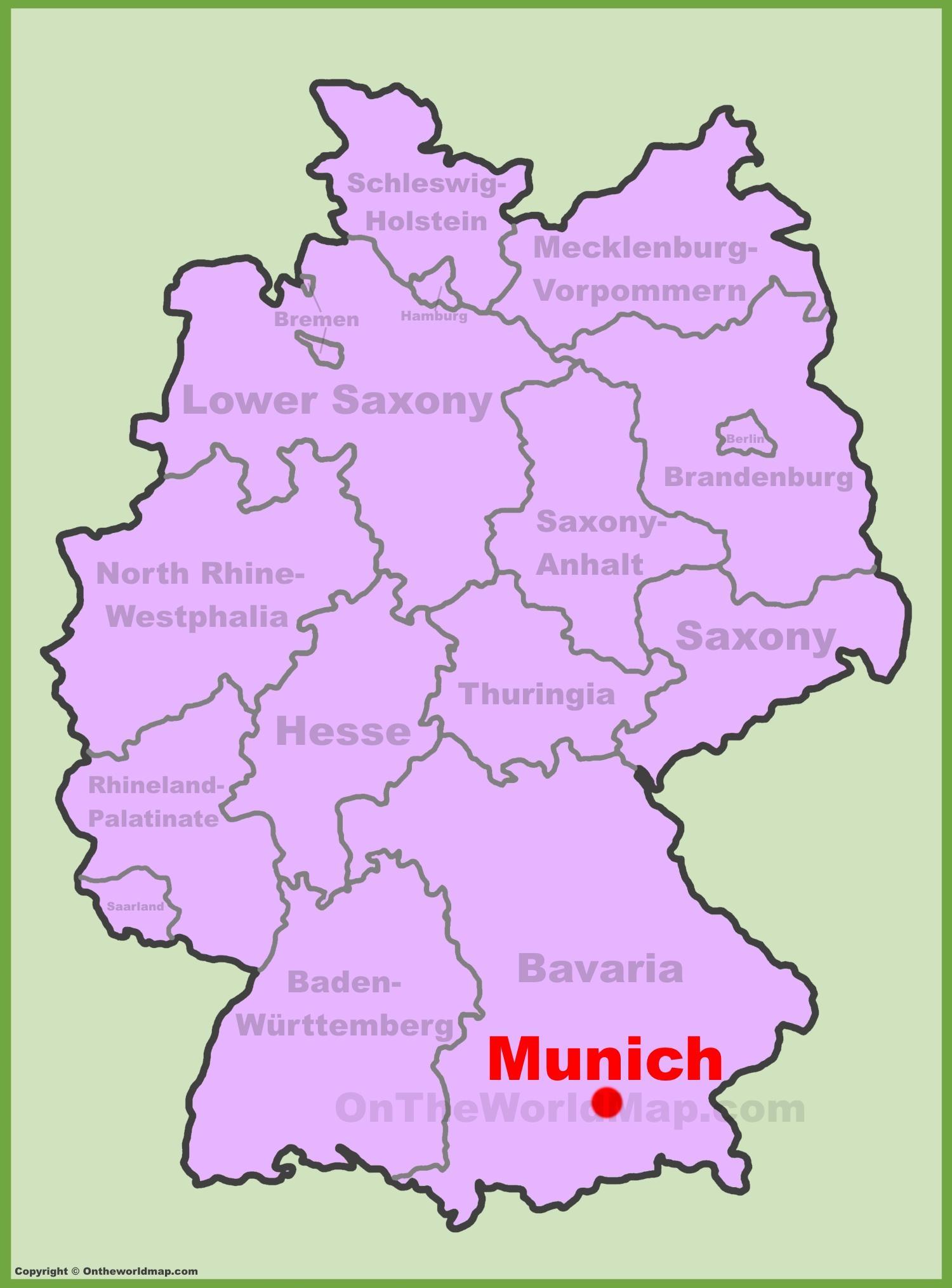 Bawaria mapa niemiec Bawaria, Niemcy